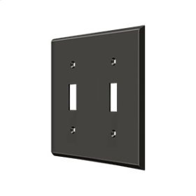Switch Plate, Double Standard - Oil-rubbed Bronze