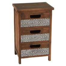 Cabinet with Embossed Drawers.