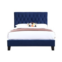 Emerald Home Amelia Upholstered Bed Kit Queen Navy B128-10hbfbr-14