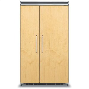 "Viking48"" Custom Panel Side-by-Side Refrigerator/Freezer - FDSB5483 Custom Panel"