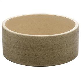 "Fango Cylindrical 12"" Ceramic Basin - Beige"
