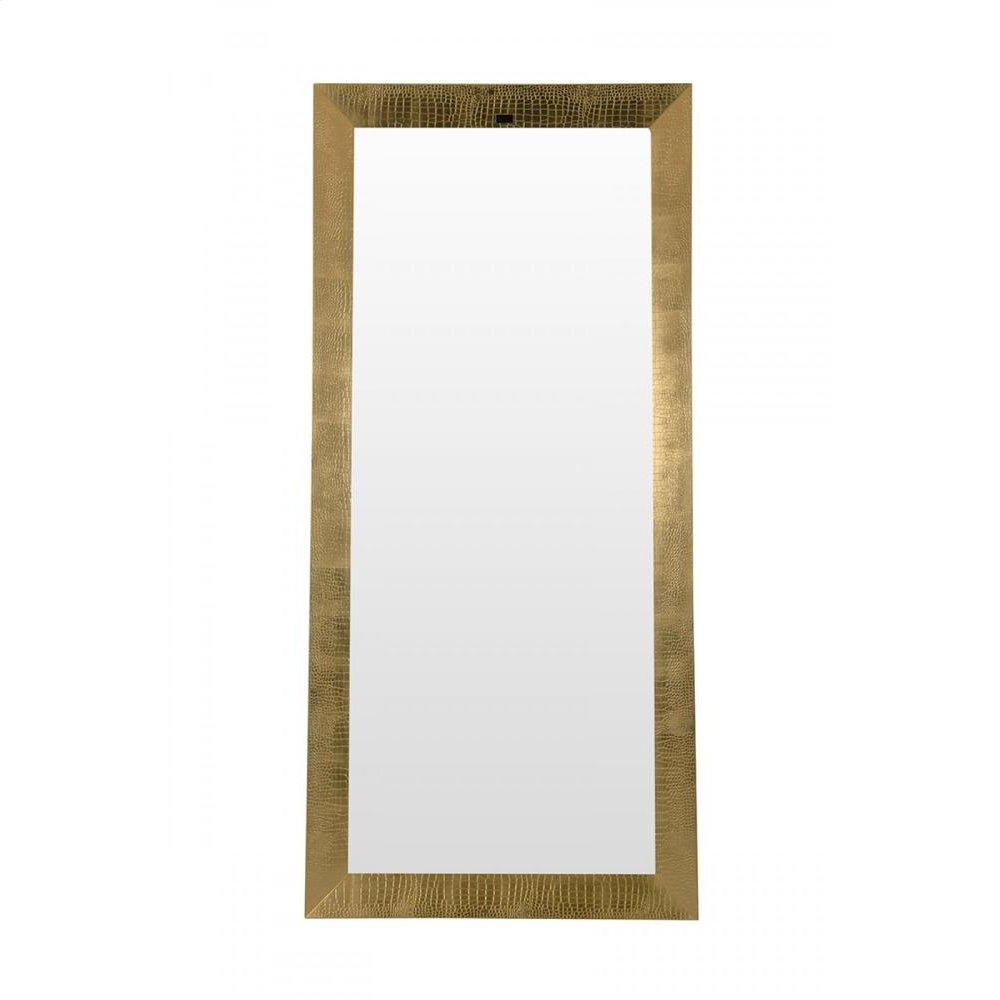 A&X Regal - Modern Gold Crocodile Floor Mirror