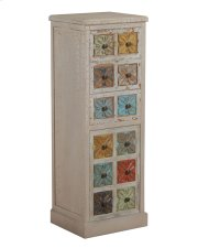 Molly White and Colored Tall Cabinet Product Image
