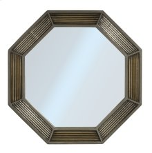Bayshore Octagonal Mirror - Distressed Graywash