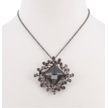 BTQ Grey Stone Charm on Chain