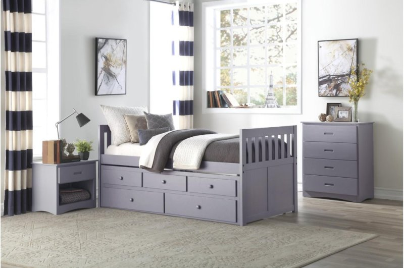 B2063pr1 In By Homelegance In Loganville Ga Twintwin Trundle Bed