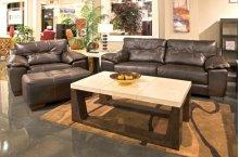 439603  Sofa, Loveseat and Chair - Chocolate