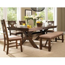 6-Pc. Kraven Dining Set - 713-417 Table, 713-260 Bench & (4) 713-434 Side Chairs