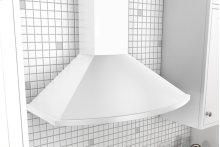 "36"" Savona Wall Hood - White - clearance model"