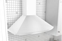 "36"" Savona Wall Hood - White - clearance model"