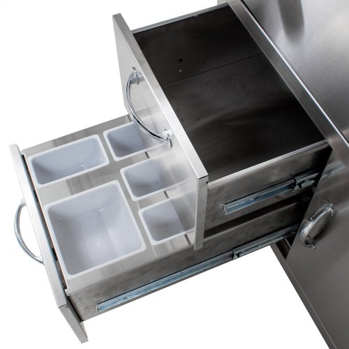 Blaze 30-Inch Gas Griddle On Deluxe Cart, With Fuel Type - Natural Gas