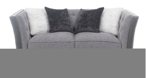 Emerald Home Patricia Loveseat W/4 Pillows Pewter U3290-01-03