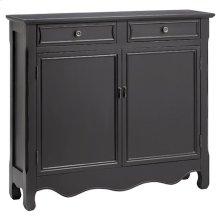 Clare 2-door 2-drawer Cabinet In Dark Grey