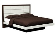 American Modern 12-Panel Upholstered Queen Platform Bed Product Image