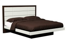 American Modern 12-Panel Upholstered Queen Platform Bed