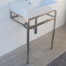 Optional shelf in solid surface for metal console stand AQS-BX-24.