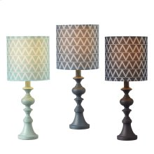 Triangle Pattern Accent Lamp (3 asstd). 60W Max.