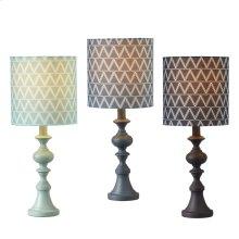 Triangle Pattern Accent Lamp (3 asstd). 60W Max.