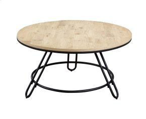 Emerald Home Penbrook Round Cocktail Table W/swivel Wood Top-metal Base Natural T688-00