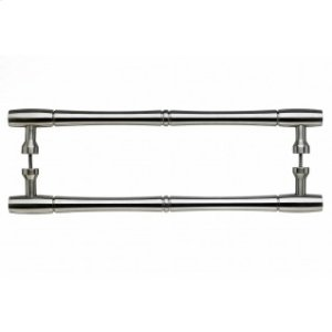 Nouveau Bamboo Door Pull Back to Back 18 Inch (c-c) - Brushed Satin Nickel