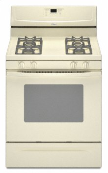 "Biscuit Whirlpool® 30"" Self-Cleaning Freestanding Gas Range"