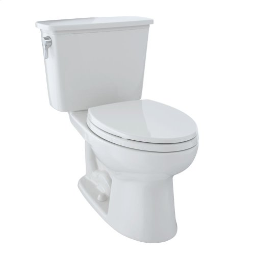 Eco Drake® Transitional Two-Piece Toilet, 1.28 GPF, ADA Compliant, Elongated Bowl - Colonial White