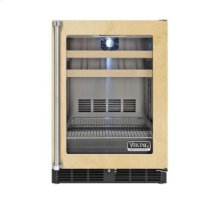 "24"" Custom Panel Beverage Center, Clear Glass, Right Hinge/Left Handle."