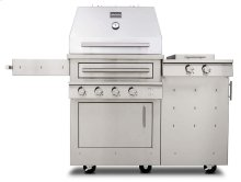 K500HS Hybrid Fire Freestanding Grill with Side Burner