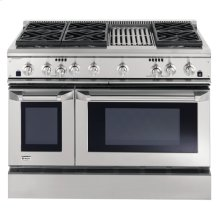 "GE Monogram® 48"" Dual-Fuel Professional Range with 6 Burners and Grill (Liquid Propane)"