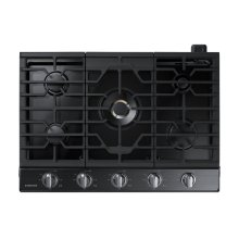 "30"" Gas Cooktop with 22K BTU Dual Power Burner, NA30N7755TG/AA (Black Stainless)"