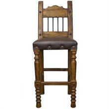 "49"" Torno Barstool w/ Leather Seat & Iron"