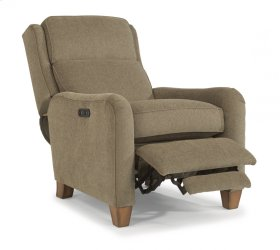 Poet Fabric Power High-Leg Recliner with Power Headrest
