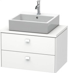 Brioso Vanity Unit For Console Compact, White Matt