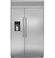 """Monogram® 48"""" Built-In Professional Side-by-Side Refrigerator with Dispenser"""