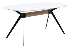 Allison - Dining Table Complete-white MDF Top/black Metal Base 36x63x30h Rta