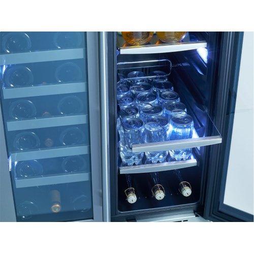 """24"""" Dual Zone French Door Wine & Beverage Cooler"""
