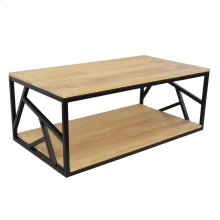 Bengal Manor Mango Wood and Iron Rectangle Cocktail Table