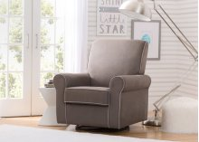 Rowen Upholstered Glider - Graphite with Dove Grey Welt (944)