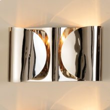 Hardwired Folded Sconce-Nickel
