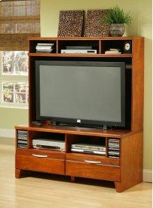 Pecan Plasma TV Stand - Top