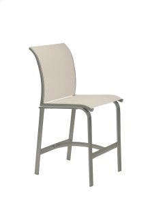 Elance Relaxed Sling Armless Stationary Bar Stool