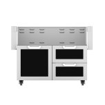 "Hestan42"" Hestan Outdoor Tower Cart with Door/Drawer Combo - GCR Series - Stealth"