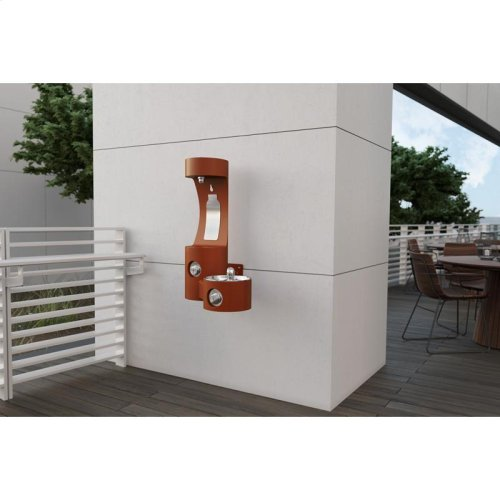 Elkay Outdoor EZH2O Bottle Filling Station Wall Mount, Non-Filtered Non-Refrigerated, Terracotta