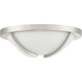 Lateral Flush Mount in Brushed Nickel