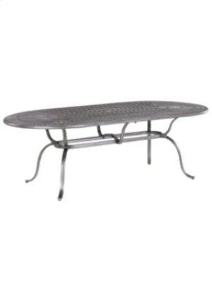 "Spectrum 85"" x 43"" Oval KD Umbrella Table"