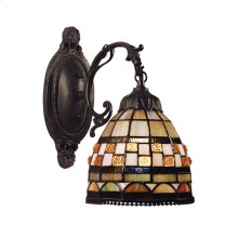 Jewelstone 1-Light Wall Sconce in Classic Bronze