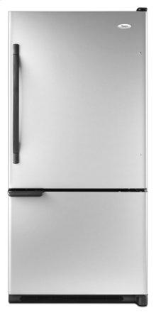 Silver Whirlpool® ENERGY STAR® Qualified 22 cu. ft. Bottom Mount Refrigerator
