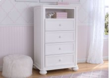Peyton 4 Drawer Chest with Cubby - Bianca (130)
