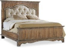 Chatelet Queen Upholstered Mantle Panel Bed