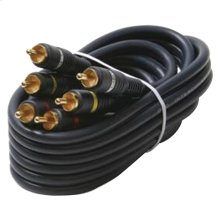 Triple RCA Composite Video Cable (6ft)